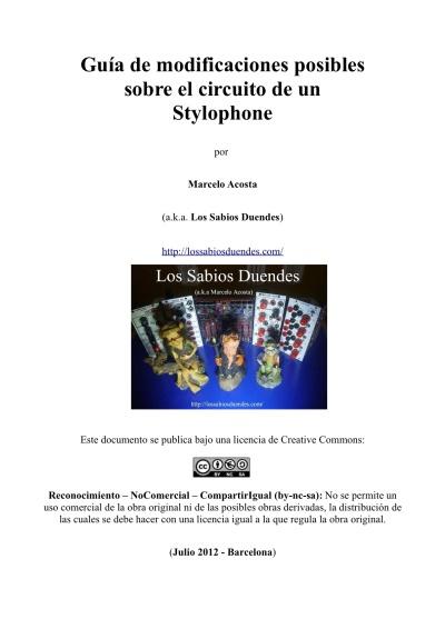 Guia de Modificaciones sobre el Stylophone x Marcelo Acosta